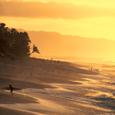 オワフ島のサンセットビーチ